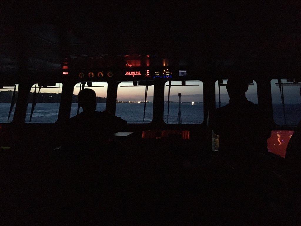 #CaptainsLog and so the night runs begin! #BoldlyGo around the #ChannelIslands
