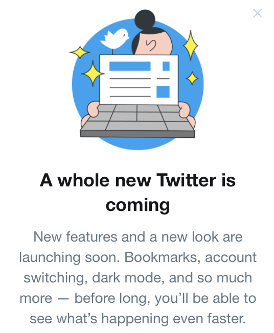 Excited to see what this is all about, @Twitter!