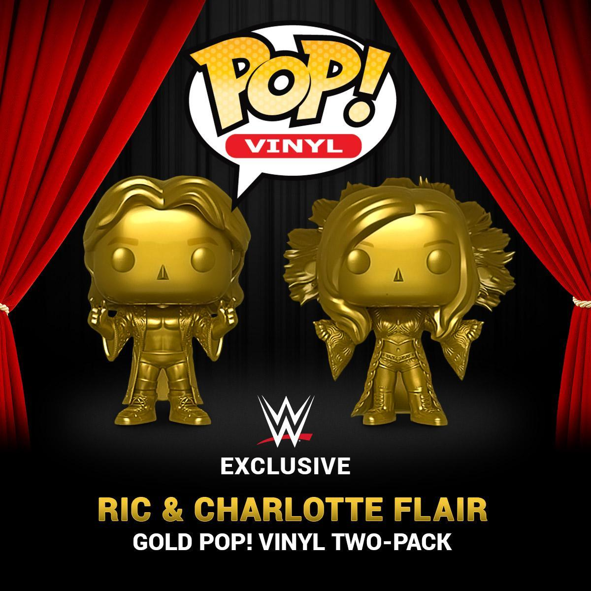 Behold, the most stylin' & profilin' #PopVinyl figures ever created! New #RicFlair & #CharlotteFlair Gold POP! Vinyl Figure 2-Pack now available at #WWEShop. Wooooo!   http:// bit.ly/2l5CbLg    <br>http://pic.twitter.com/FEYtN7eb5Y