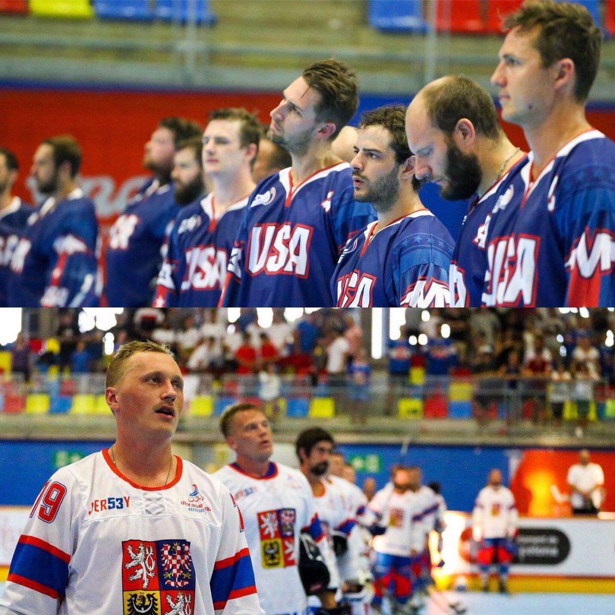 🥅🏒#inlinehockey🏒🥅#WORLDROLLERGAMES   Senior Men championship FINAL is CZECH REPUBLIC vs USA. Loskot, Cik and Rubes goals lead CZE to the FINAL. GOLD RUSH is definitively at last step!#Worldskate #WRG2019 #skateaddicted #everybodyloveswheels @wrgbarcelona @TheWorldGames