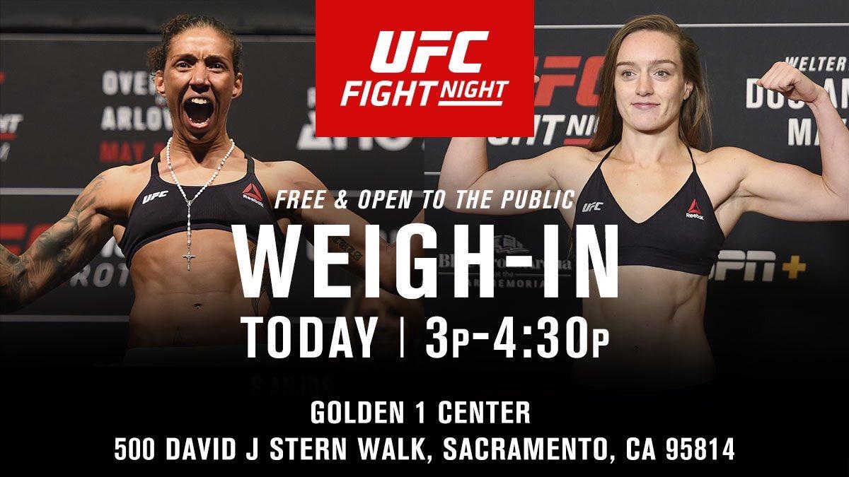 Sacramento!  We'll see you at @Golden1Center! #UFCSacramento