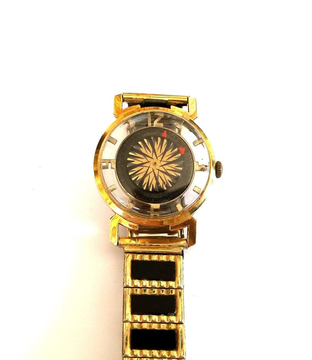 #Geek 🤓 Awesome of the Day: #Steampunk-ish ⚙️ Ernest Borel #Kaleidoscope Cocktail #Watch⌚ 1960s via @TrendiTreasures on @Etsy #SamaWatch #SamaGeek