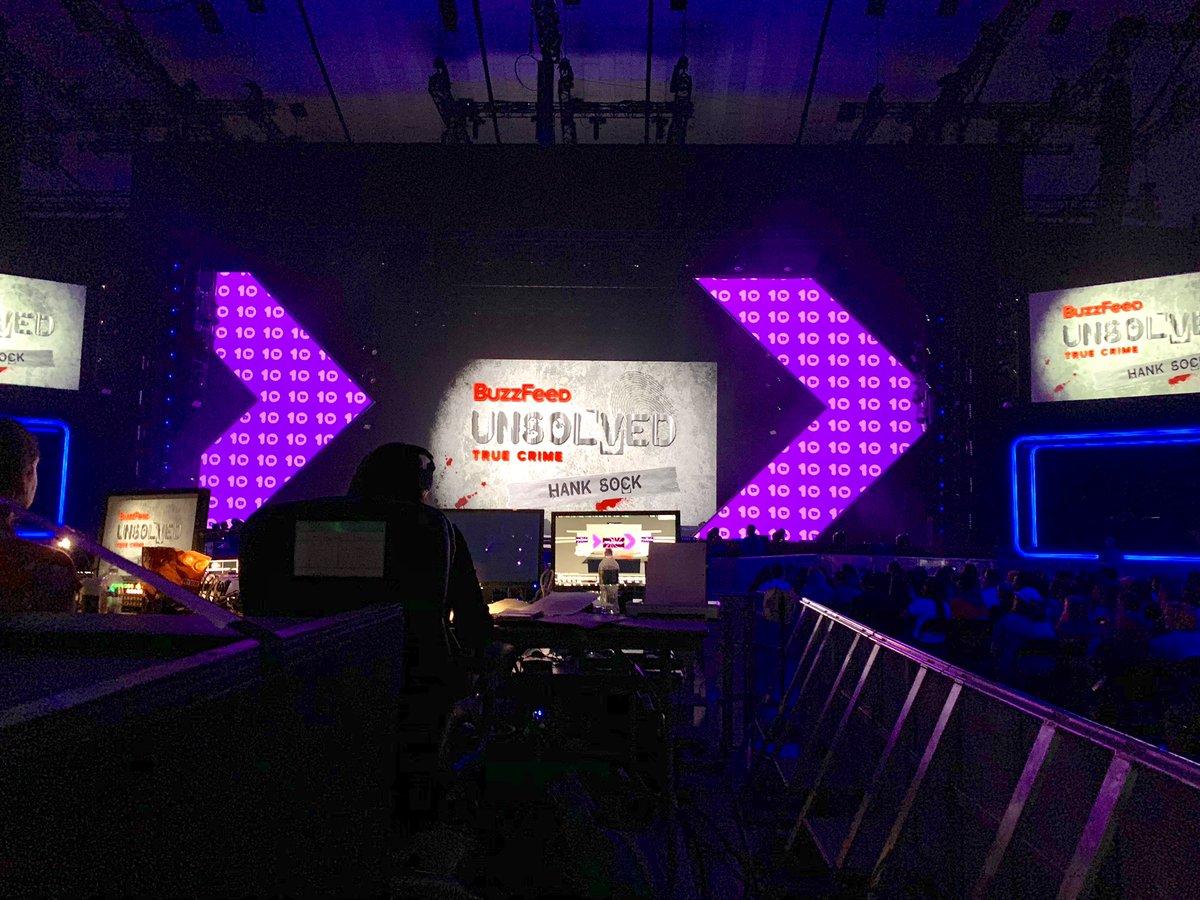 @BuzzFeed #unsolved at @VidCon LIVE tonight featuring @ryansbergara @shanemadej @hankgreen and #hanksock