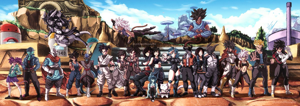 and.. here it is folks, all 23 peeps ❤️ commissioned by @Rinu_Chan115 c: Thank you to every single one of you for being so patient these past months, especially Rin! I hope you guys love it!  #commissions #art #anime #DragonBallSuper #Xenoverse2 #ArtistOnTwitter