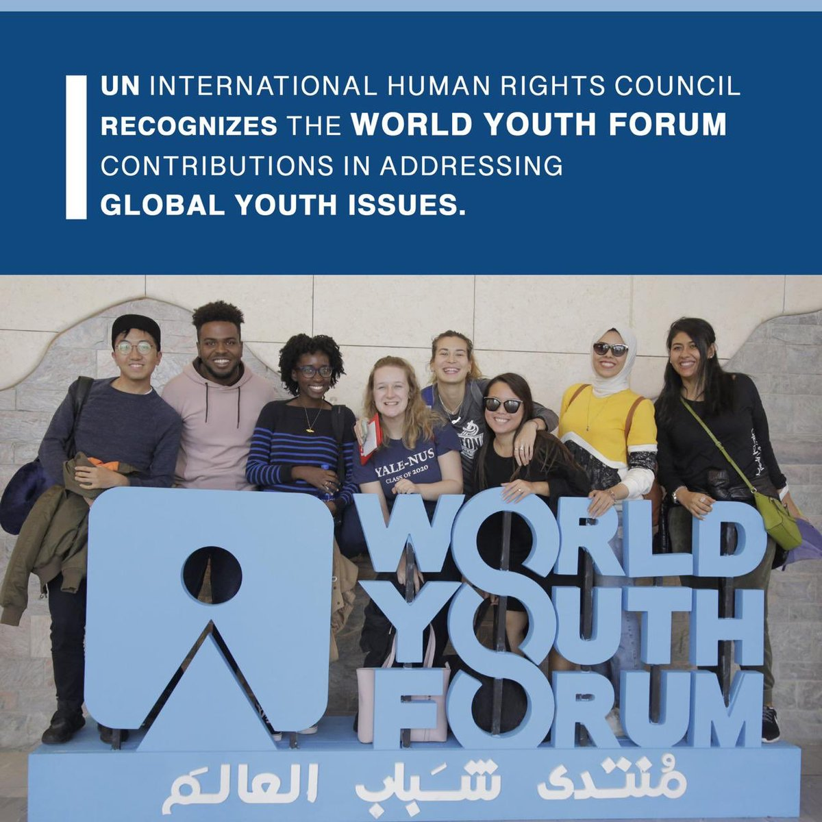 UN International Human Rights Council recognizes the World Youth Forum Contributions in addressing global youth issue. #WorldYouthForum For more information: facebook.com/19305241604954…