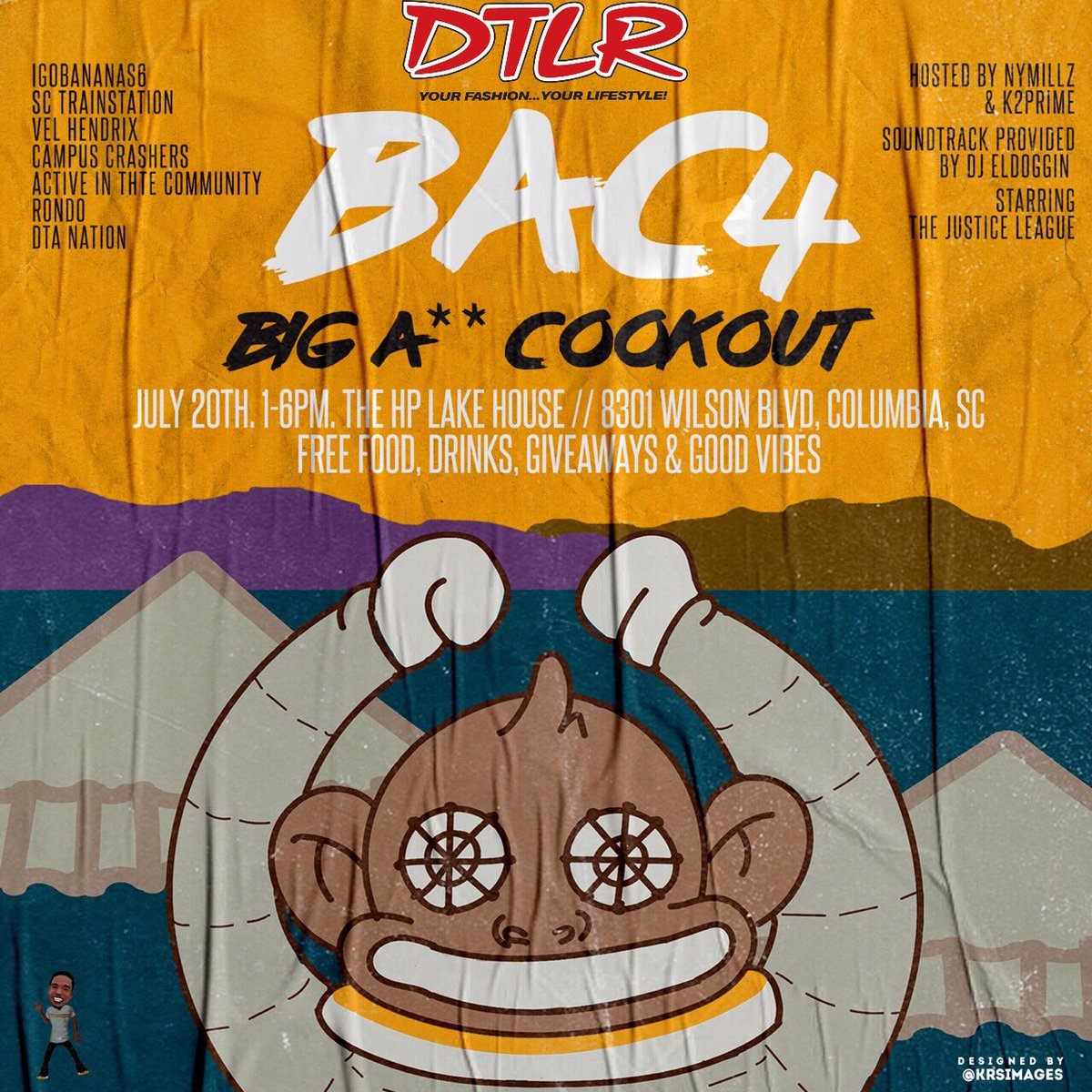 The cookout #BAC4 is F R E E #BACWeekend2019 🤦🏾‍♂️