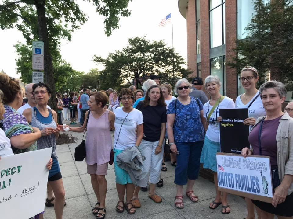 #Lights4Liberty vigil in Doylestown PA. #CloseTheCamps #NeverAgainIsNow @Lights4Liberty #ILNH