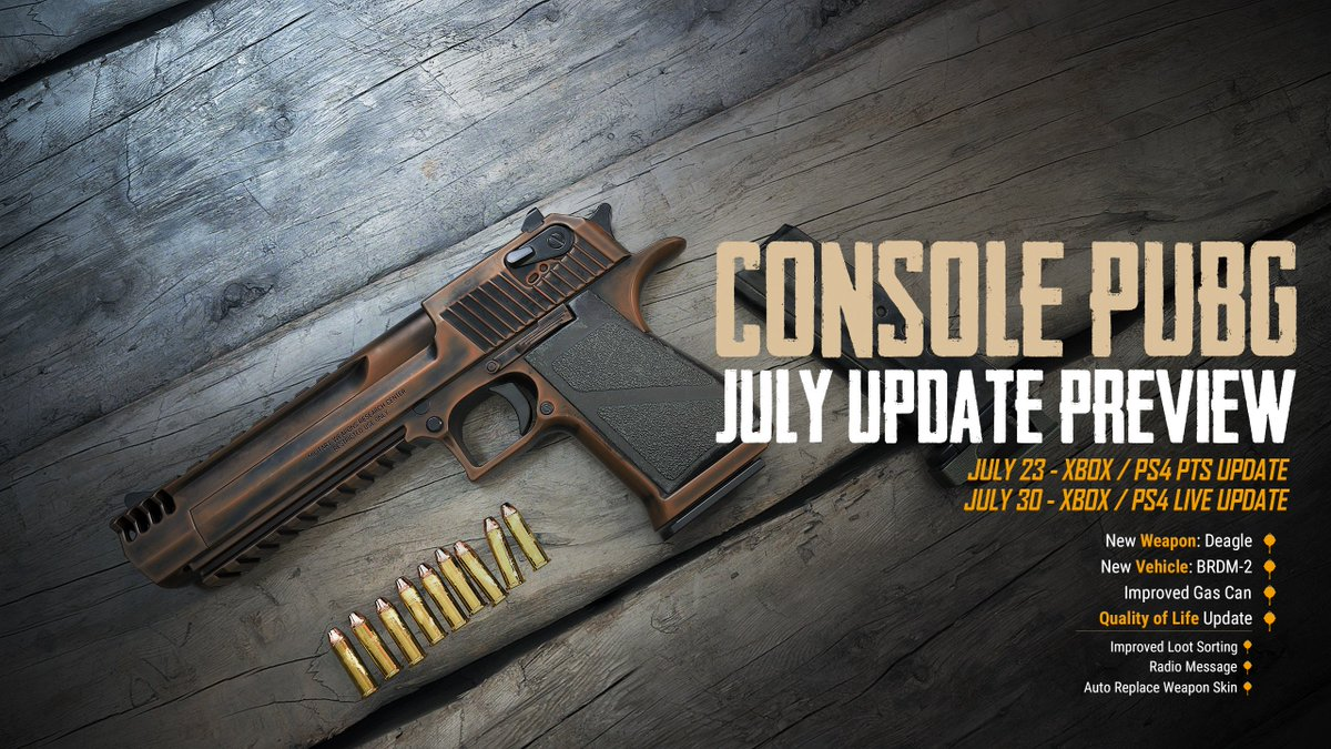 Pubg On Twitter The Next Console Update Featuring The