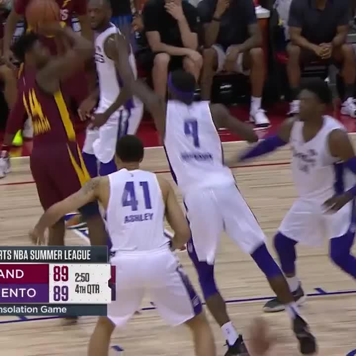 Malik Newman was ballin. He put up 33 PTS in the @cavs OT win vs. the Kings! 🔥 #NBASummer