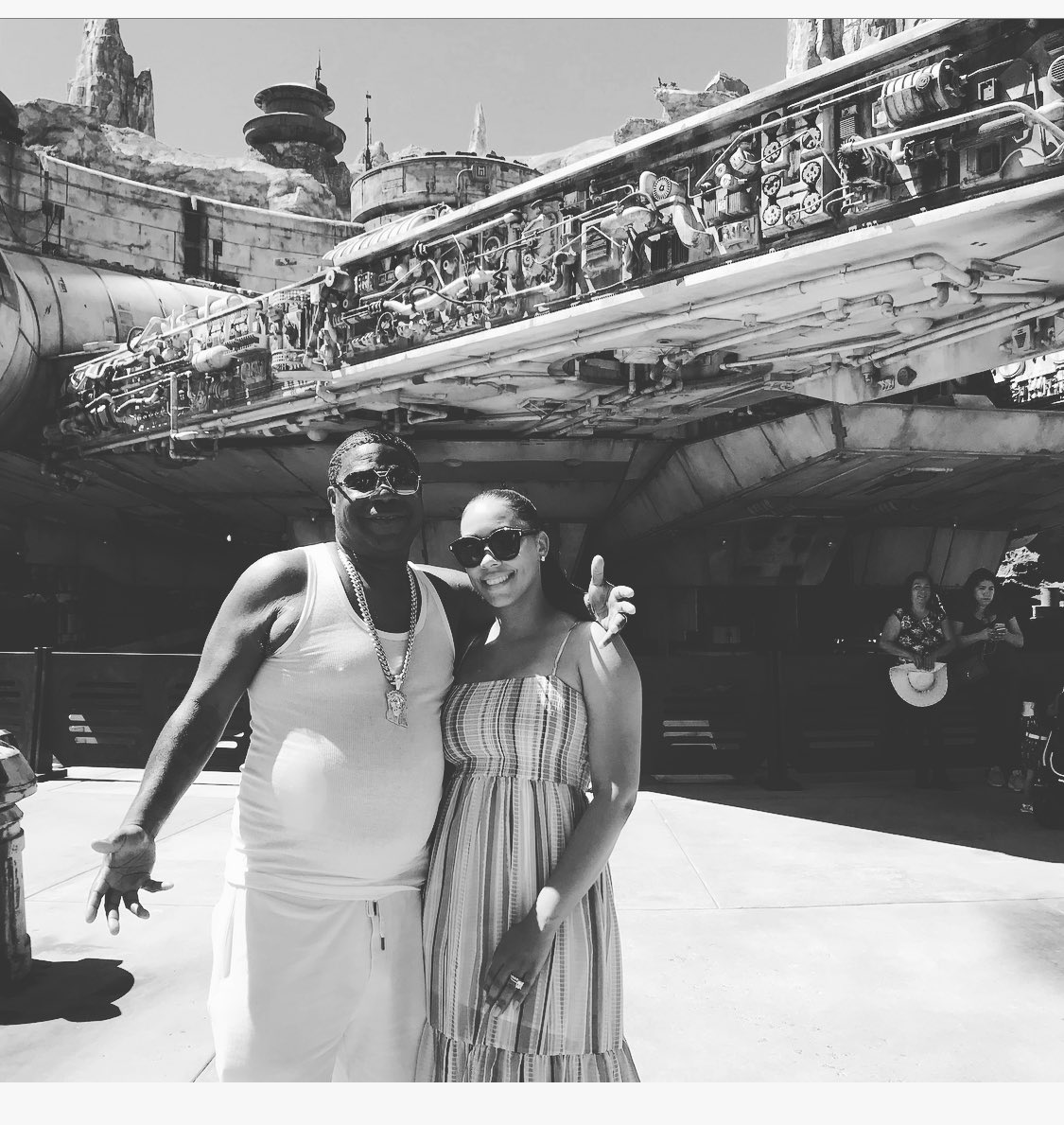 Magical time at @Disneyland. I'm Han Solo and don't let anyone tell you different!!!! @IAMMeganMorgan