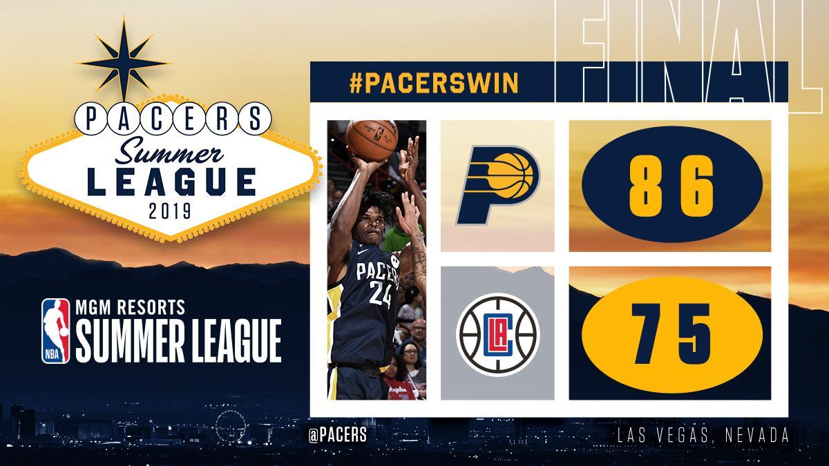 Closed out @NBASummerLeague with a #PacersWin! 🙌  @AlizeJohnson 25p/13r @dap44_ 24p/10r @MervM_22 10p/5r