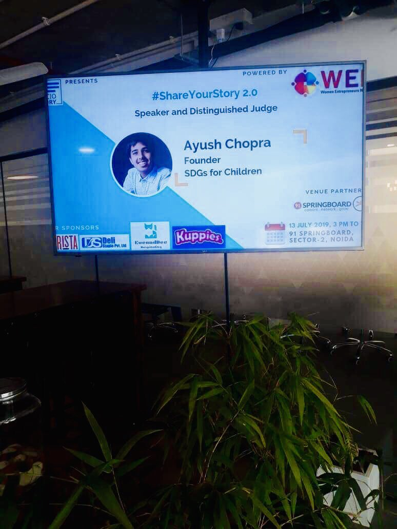 Welcome to @SocioStory #ShareYourStory event today at 3:00 PM, Noida, India - @SDGsForChildren