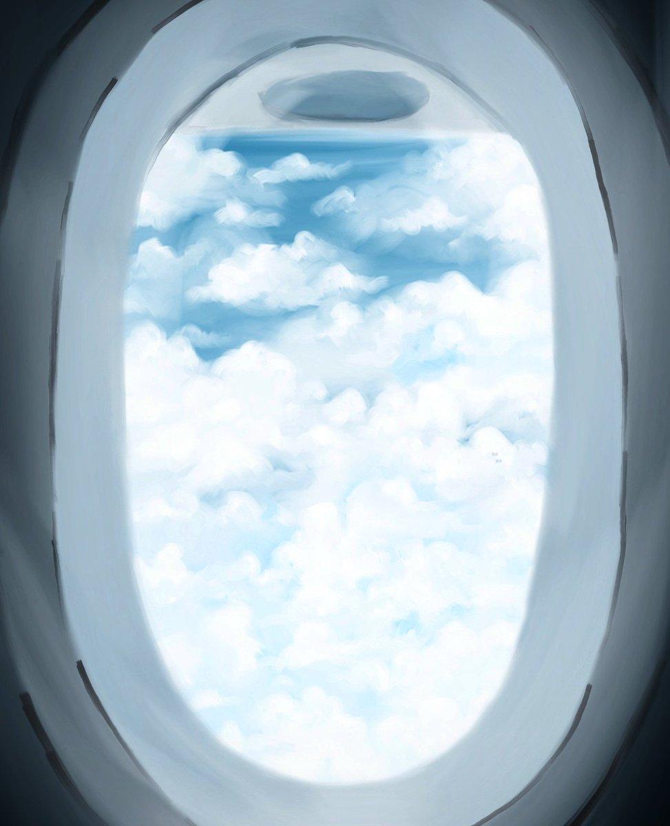 Views ✈💺 #airplane #art #digitalpainting #myart #paint #painting #airplanewindow #travel #airline #vacation #views #window #beautiful ##autodesksketchbook #note9 #samsungnote9