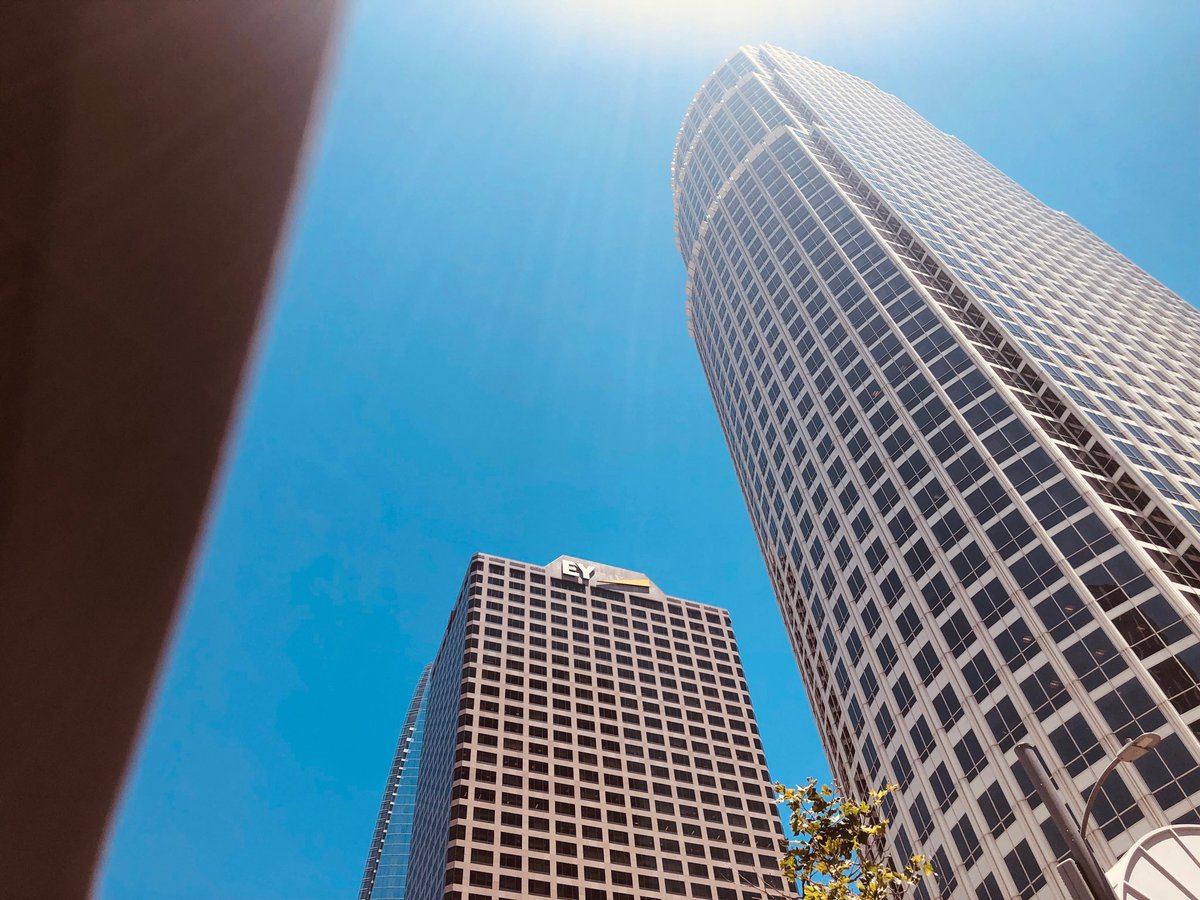#Sunroof shot. #DTLA #LosAngeles #California #Buildings #cars #sky #photo #photograph