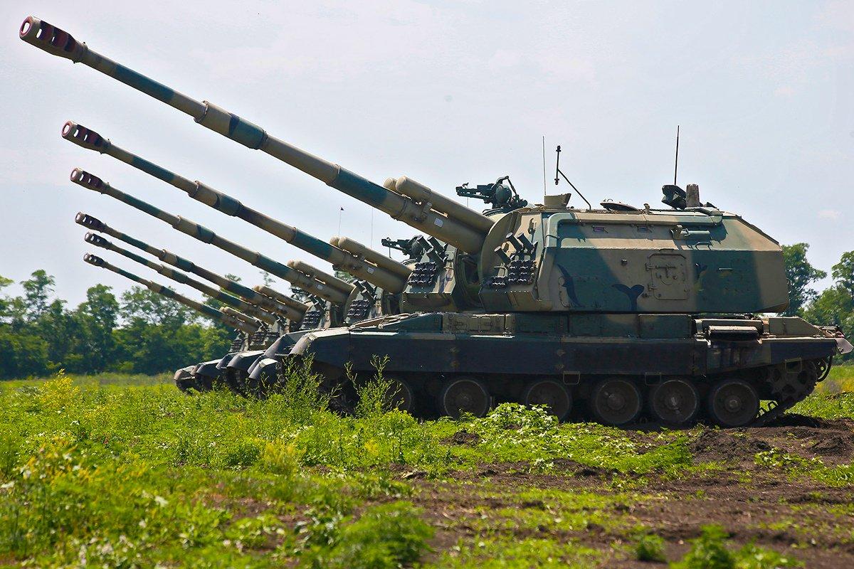 As táticas russas ainda enfatizam a artilharia como um instrumento decisivo para destruir as formações inimigas