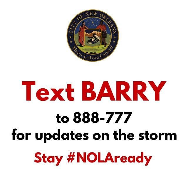 You all be safe! Be prepared for this harsh weather coming in. #hurricanebarry2019  https:// ift.tt/2lecpF3     <br>http://pic.twitter.com/MgUlTHesol