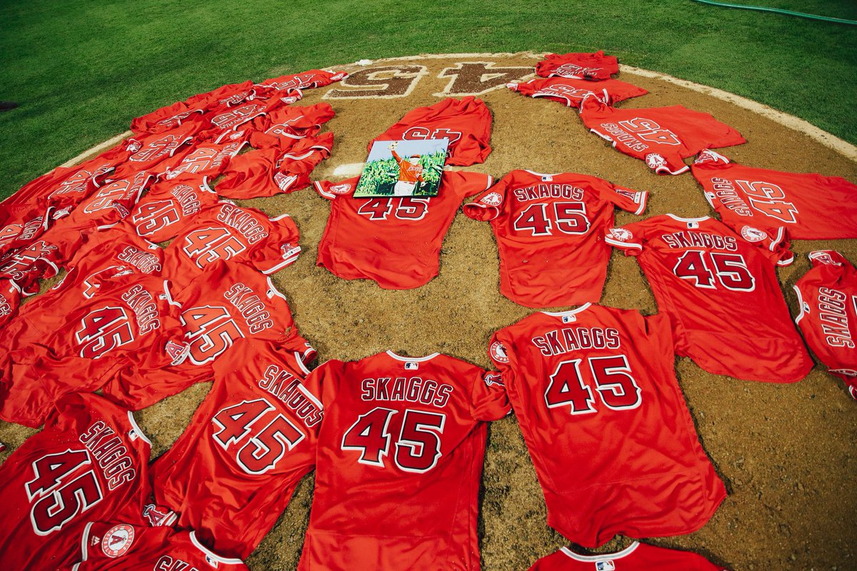 A no-no just hours before what would have been Tyler Skaggs' 28th birthday.   You can't script this. For Tyler.