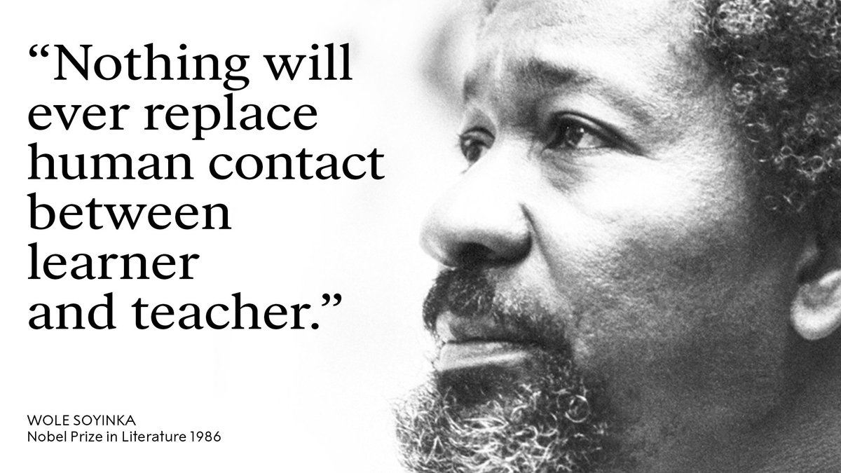 Wise words from Literature Laureate Wole Soyinka. Today he turns 85 - happy birthday!