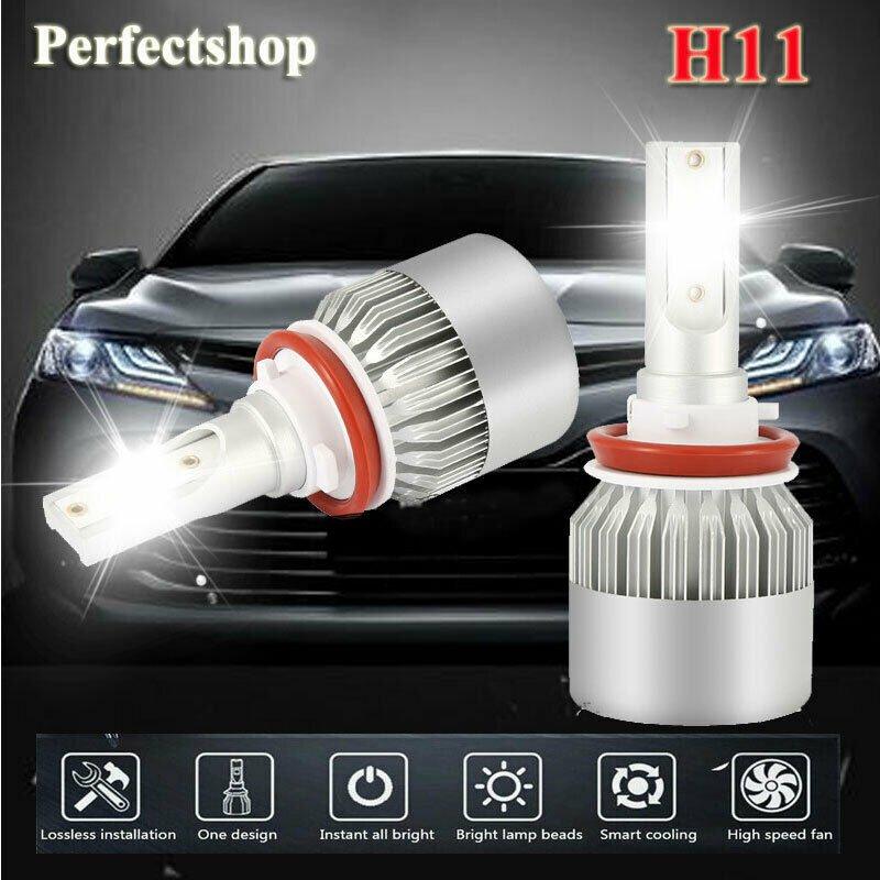 H4 HB2 9003 6000K LED Headlight Conversion Kit Bulbs 1800W 270000LM Hi-Lo Beam
