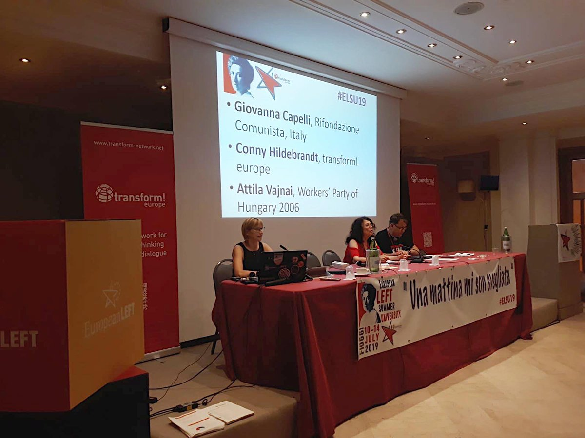 Now we talk about the new situation in #Europe after the European elections and discuss proposals for and from the Party of the European #Left #ELSU19 #futur #changeeurope