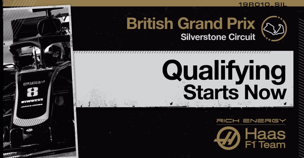 Let the #Quali battle, BEGIN!  #HaasF1 #BritishGP