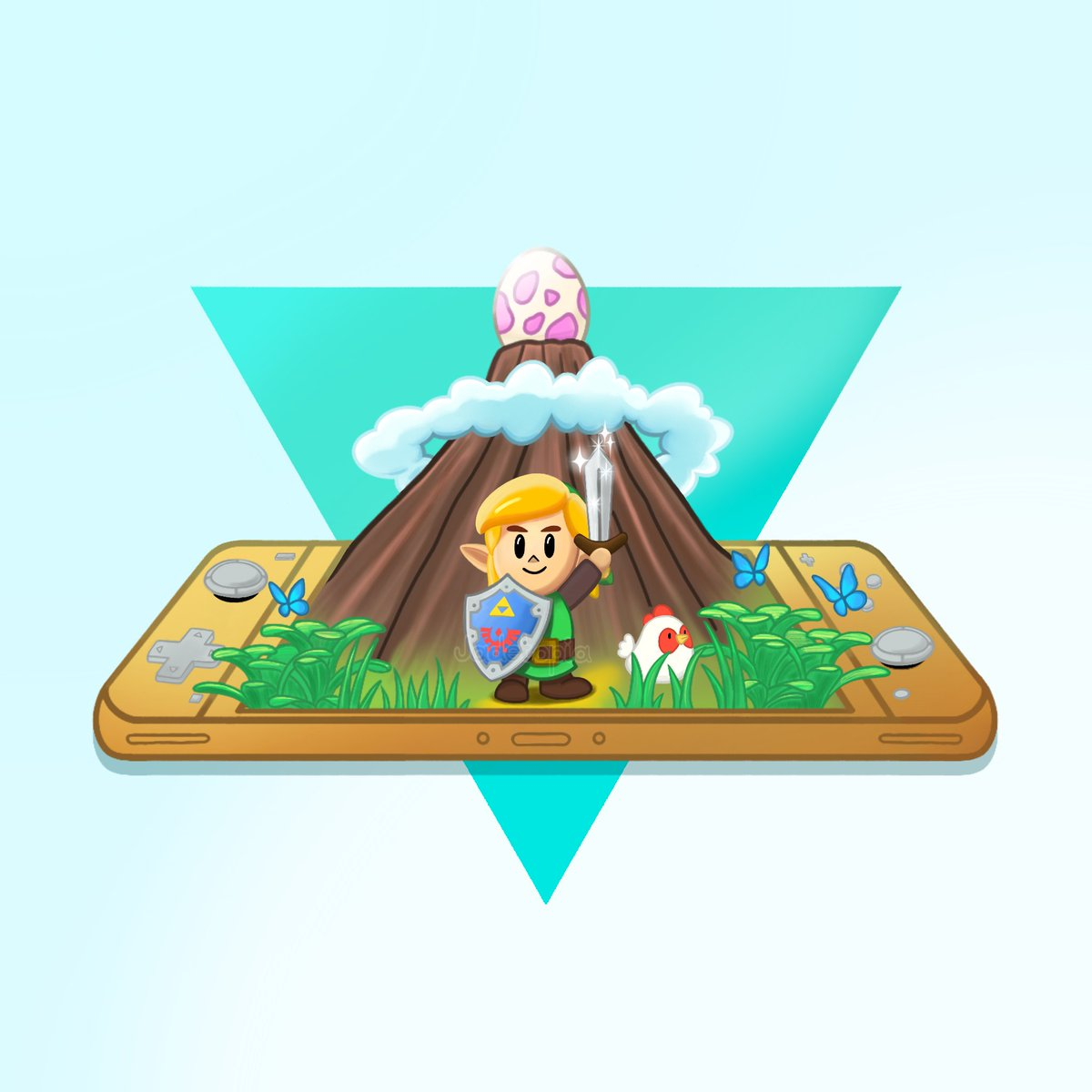 Super excited about the Switch Lite, so I had to draw something! Launch is the same day as Link's Awakening, so here's hoping there's a special gold version  #SwitchLite #linksawakening #fanart<br>http://pic.twitter.com/H0wHoxYaDy