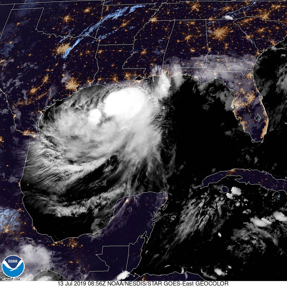 Tropical Storm #Barry is expected to strengthen to a hurricane before reaching the Louisiana coastline late this morning or early this afternoon. For more details, see http://hurricanes.gov