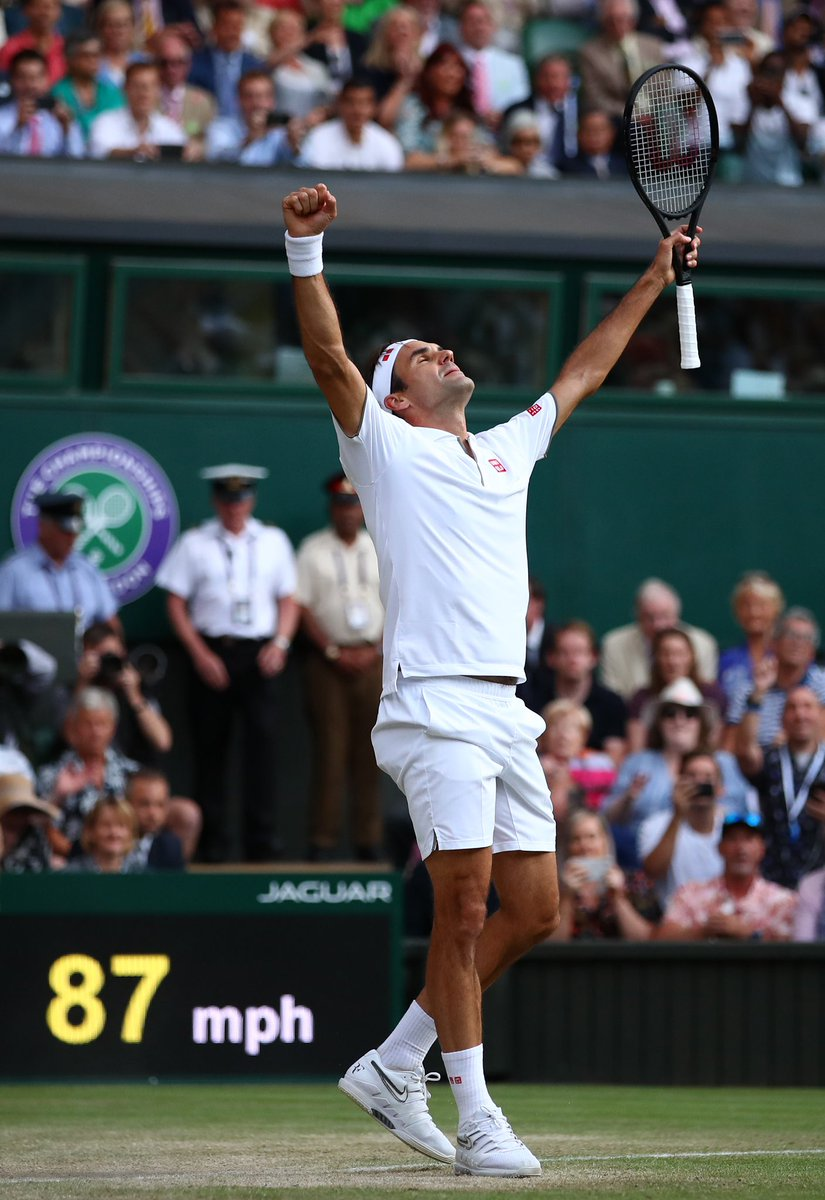 Another iconic #Wimbledon moment   @rogerfederer | #JoinTheStory <br>http://pic.twitter.com/GbFlLQ6PXM