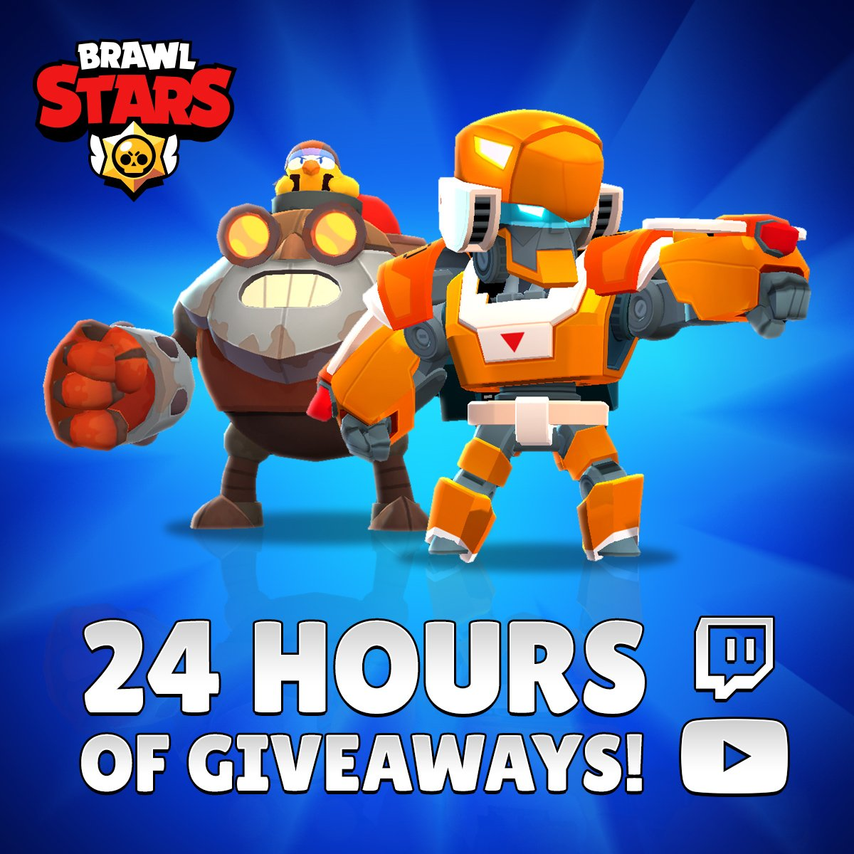 RETWEET for a chance to #WinBrawlSkins! 💥 But if you dont get lucky, dont worry! This Sunday (July 14th) more than 30 Streamers will be hosting giveaways for 24 hours! Check the full schedule here: reddit.com/r/Brawlstars/c…
