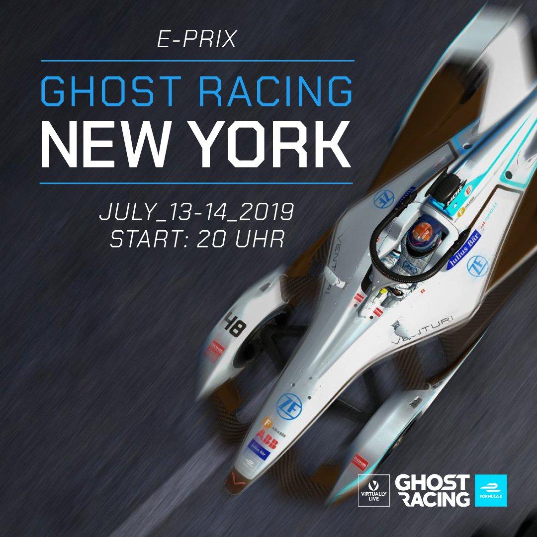 Wir sind heute und morgen live und spielen @virtuallylive Ghost Racing: Formula e zusammen mit @DaveGaming73, @mouzoNio & @memocation! Wir fahren den E-Prix von New York mit! Wer das Spiel noch nicht hat -> apple.co/2NQdvVd / bit.ly/2IQTtqv
