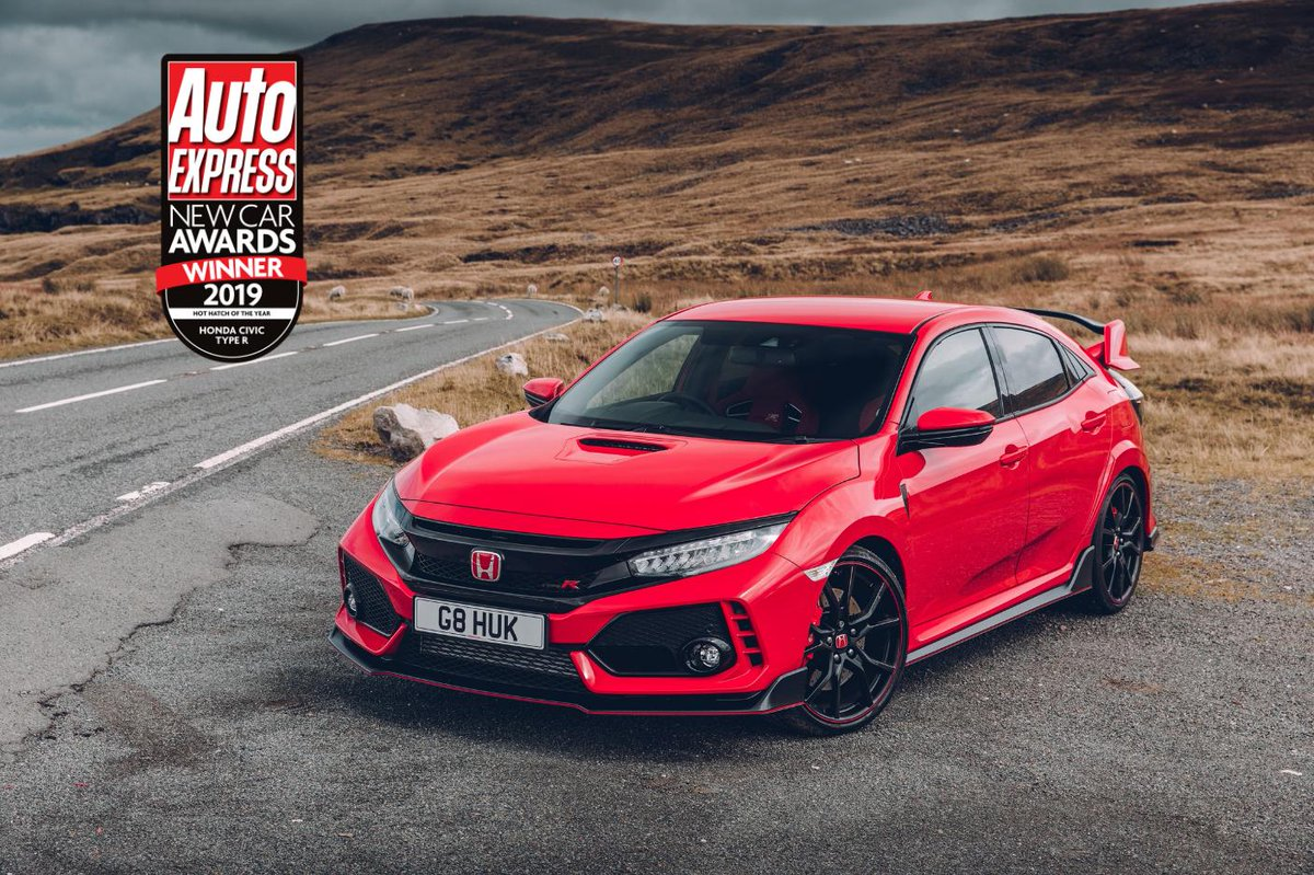 ICYMI: Earlier this week, the @AutoExpress 2019 New Car Awards took place. We are beyond grateful to announce that the Honda Civic #TypeR has bagged the Hot Hatch of the Year for the third time running! #AEAwards