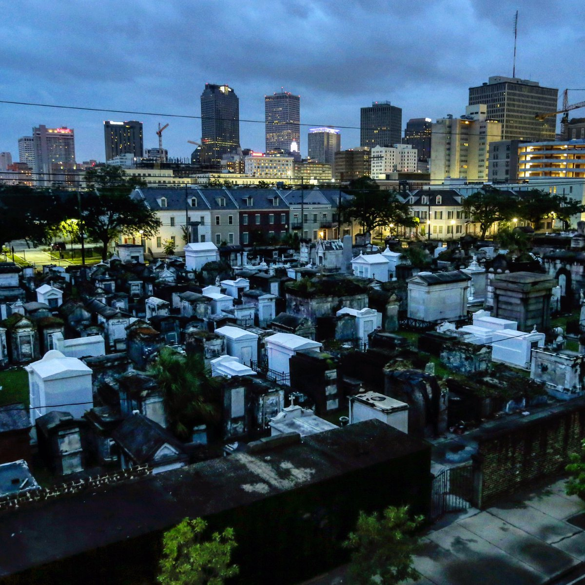 At first light, the city of New Orleans is no longer threatened by storm surge swelling the Mississippi River 2 to 3 feet above flood stage, as the eye of Tropical Storm Barry nears the Louisiana southwest coast near Morgan City Saturday, July 13, 2019. #TropicalStormBarry