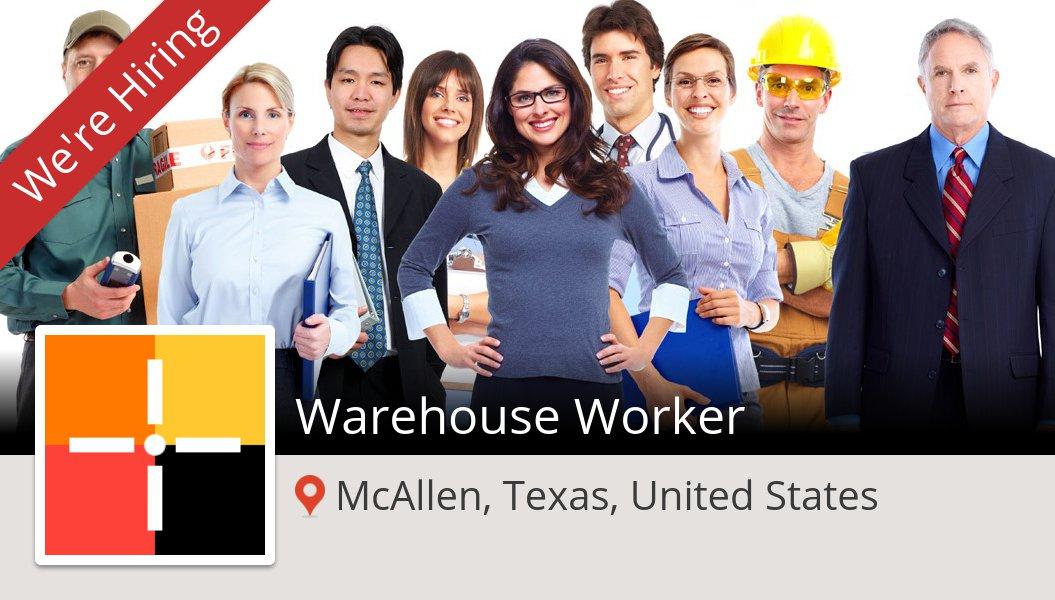#Spherion is looking for a #Warehouse #Worker in #McAllen, apply now! #job https://t.co/F3ppZq7fzW https://t.co/D6q2VmVV82