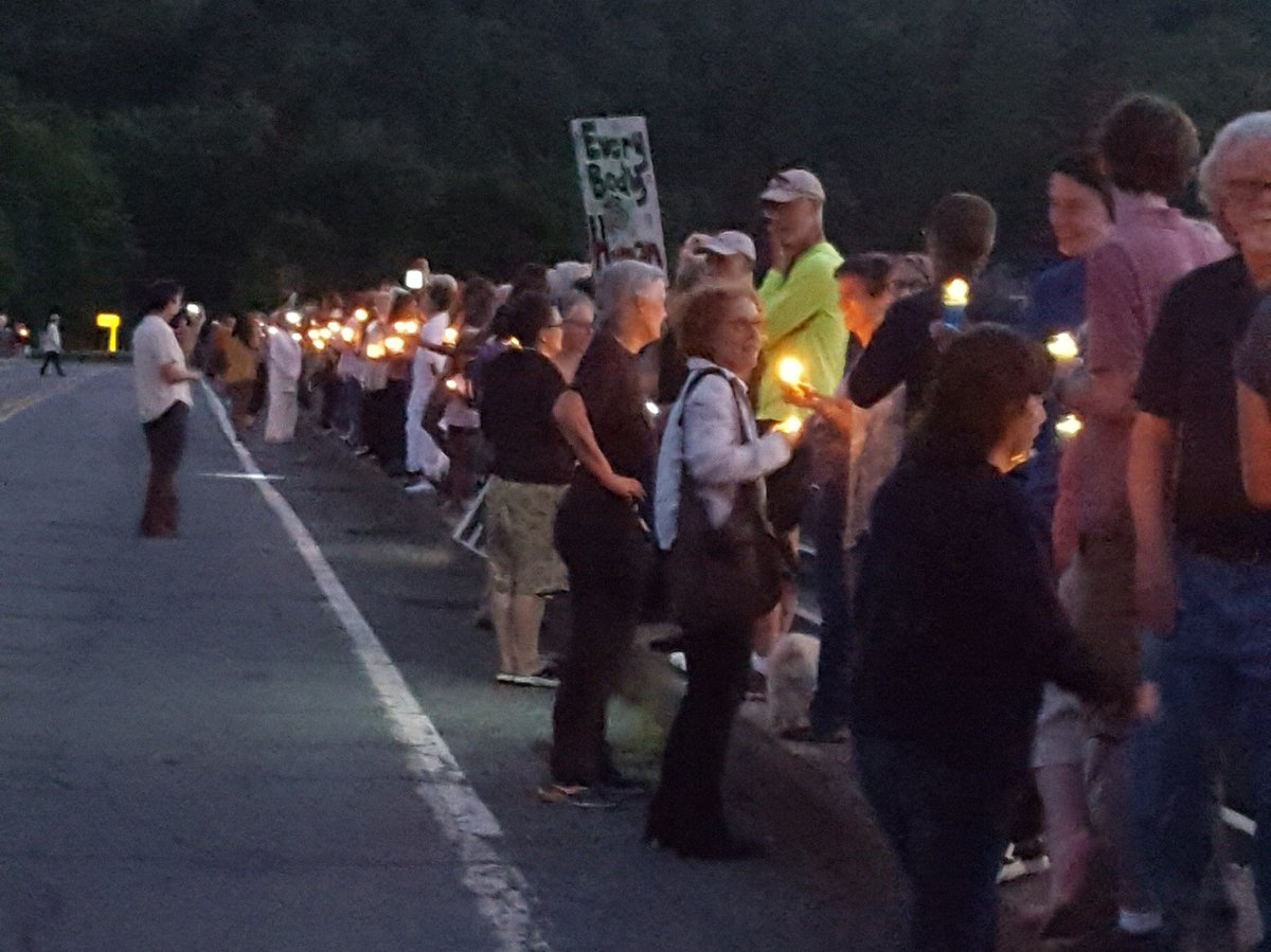 End the camps. #LightsForLiberty. Callicoon, NY.