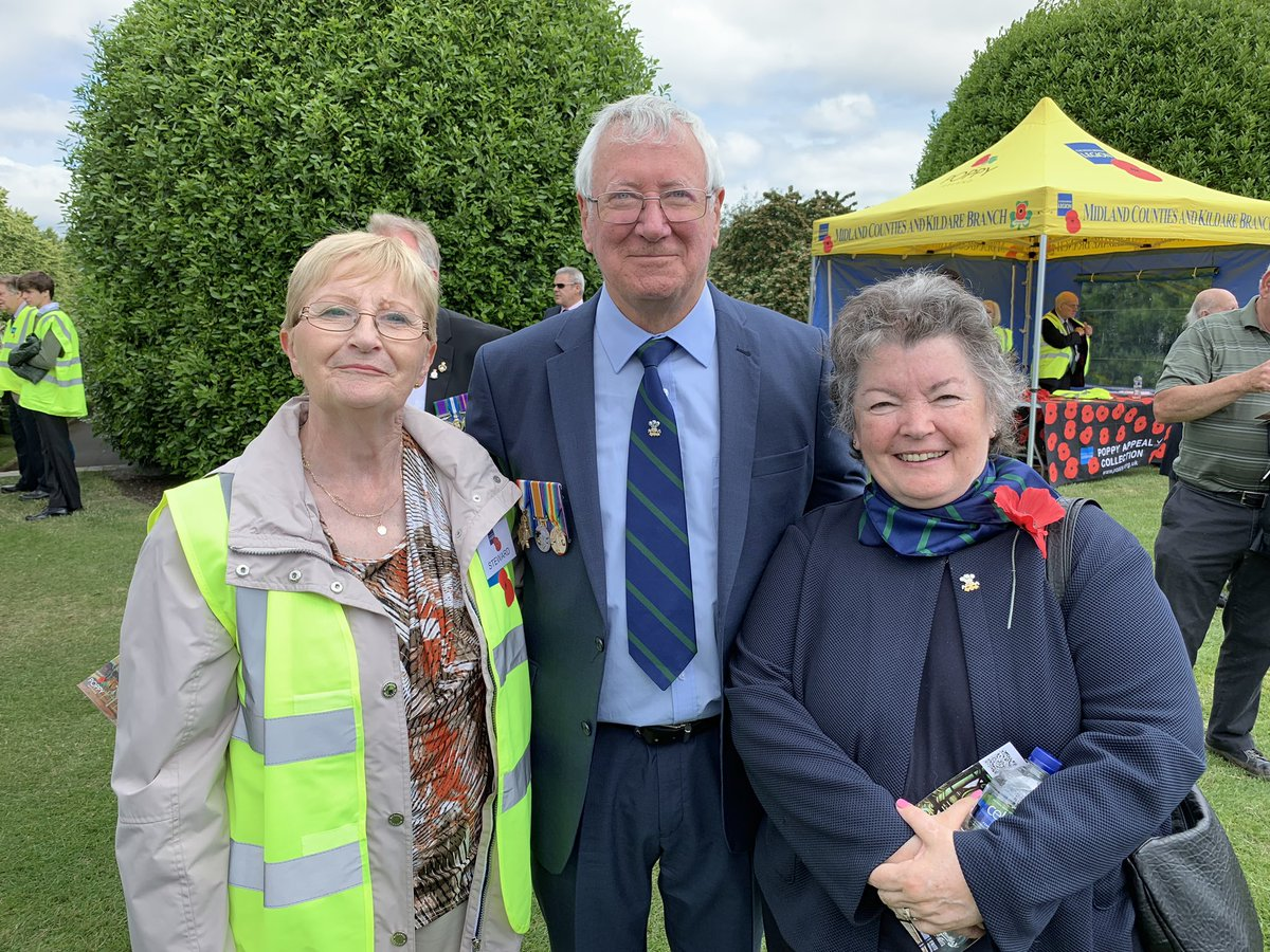 Members Patricia Brophy and Mary Kennedy with our Ireland Association Chair Denis Kirby at the @RBL_Ireland Annual Service of Rembrance at Islandbridge. #WeWillRememberThem <br>http://pic.twitter.com/ffe8iFQ3Mr
