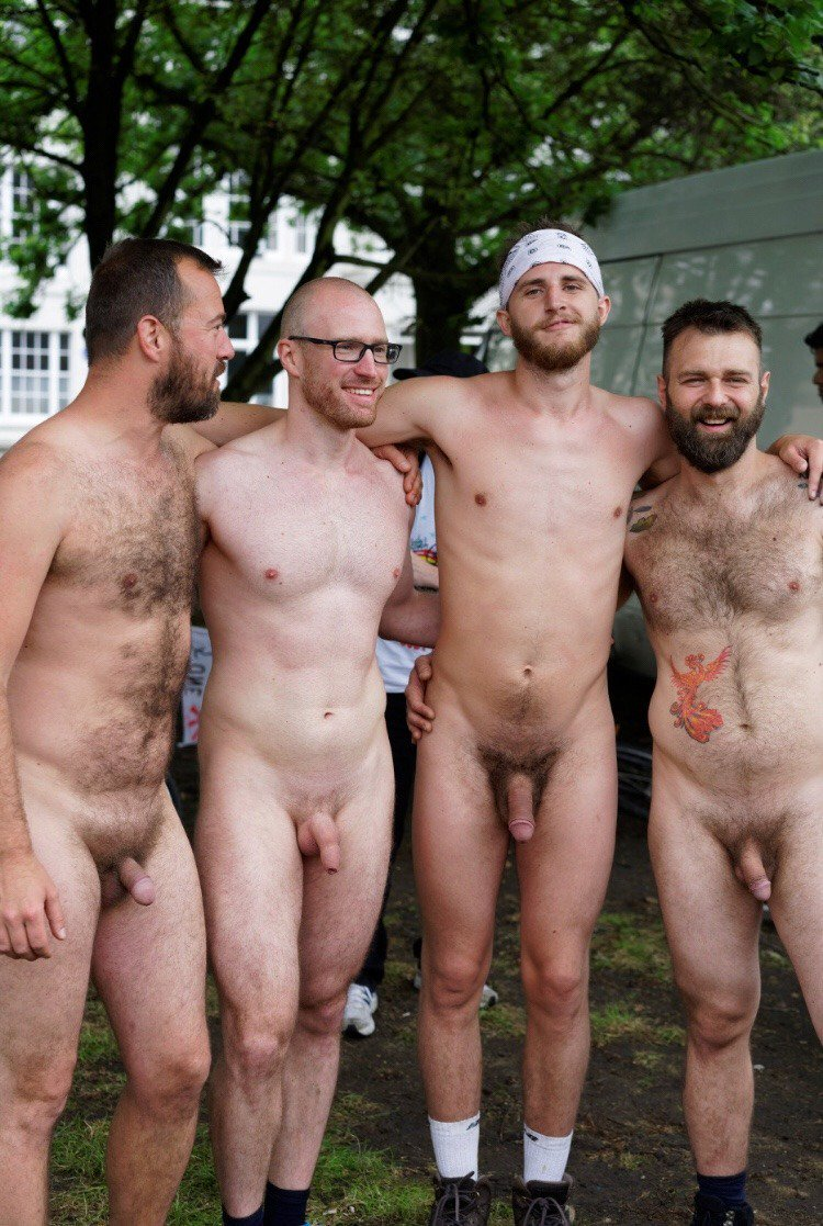 Horny men with big cocks are enjoying being naked