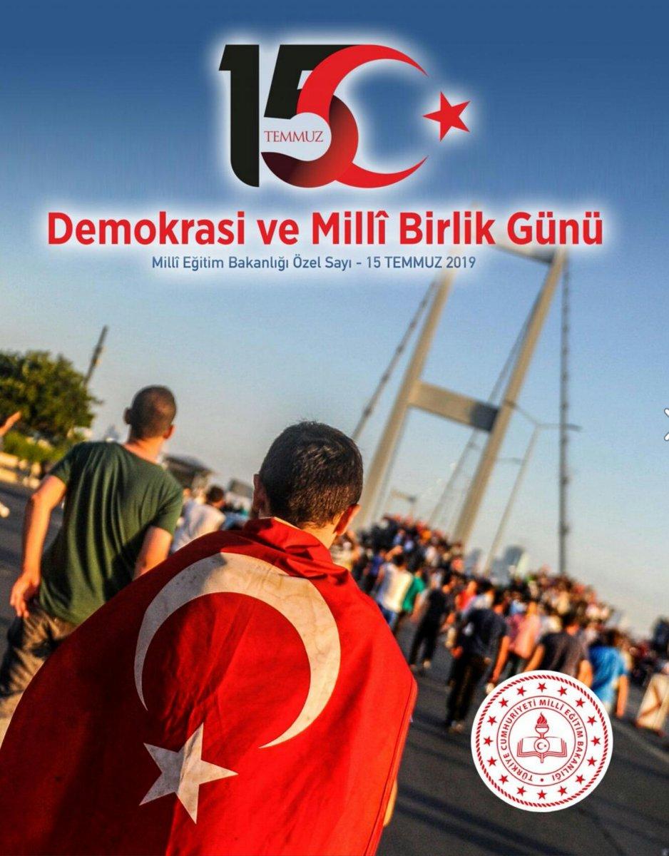 Millî Eğitim Bakanlığımız, 15 Temmuz Demokrasi ve Millî Birlik Günü için bir e-dergi yayımladı. @tcmeb @ziyaselcuk @memleventyazici ☞ http://www.meb.gov.tr/15temmuz/2019/
