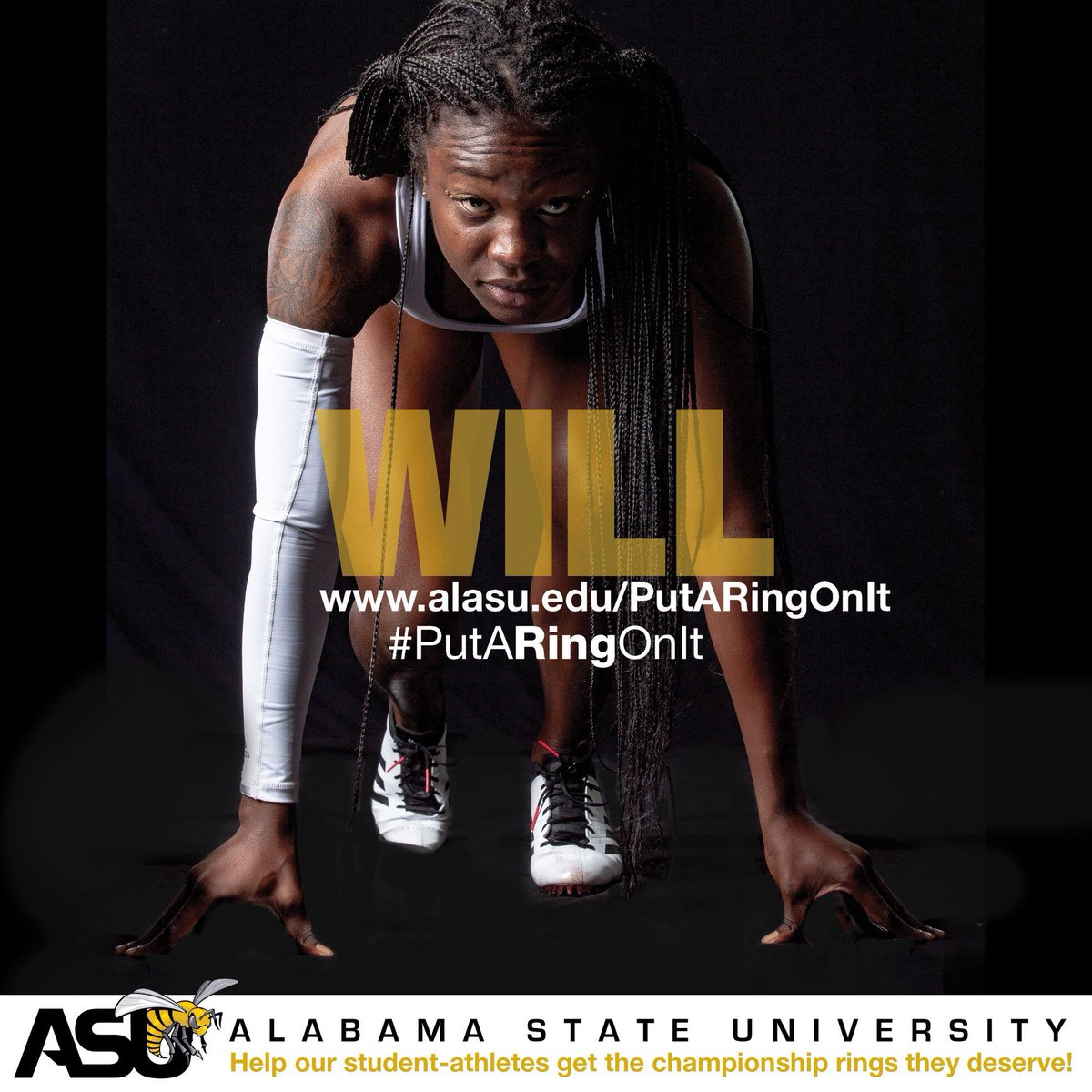 Will /wil/ n: a strong desire or determination to do something. The @BamaStateTFXC Women's Cross Country, Indoor and Outdoor Track and Field teams each won SWAC championships, three of 10 won by ASU. Visit  http://www. alasu.edu/putaringonit     to make a GIFT today! #STATEofMind <br>http://pic.twitter.com/O7Ev8JQS6a