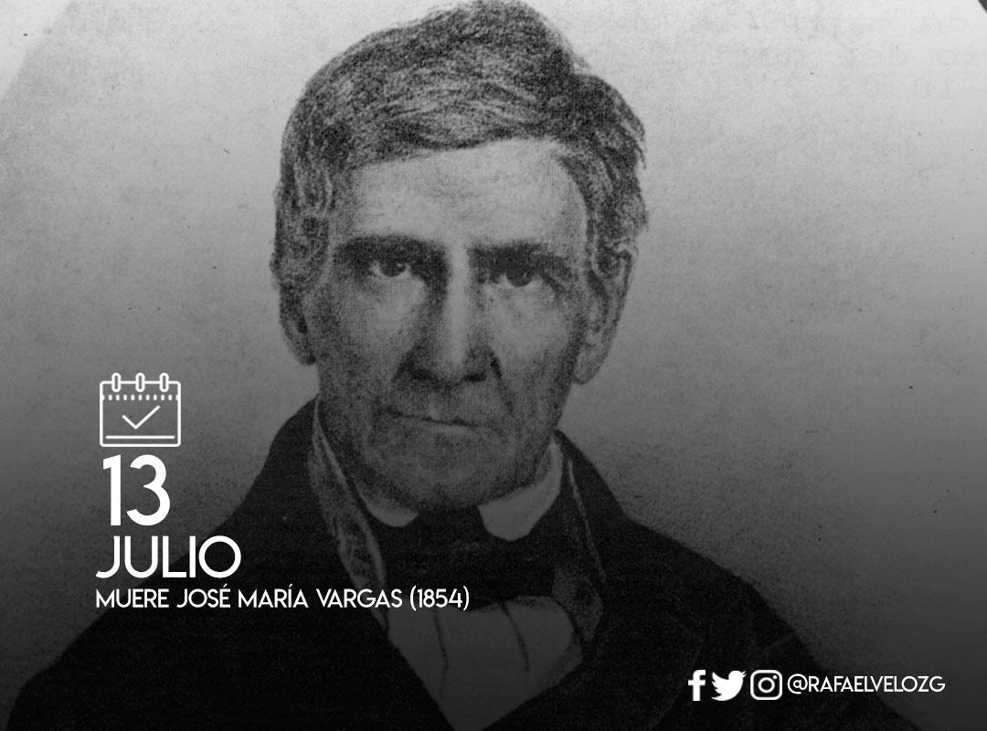 Hoy se conmemoran 165 años de la muerte de José María Vargas (1854) médico cirujano, científico, catedrático y rector de la Universidad de Caracas, político, escritor y presidente de Venezuela