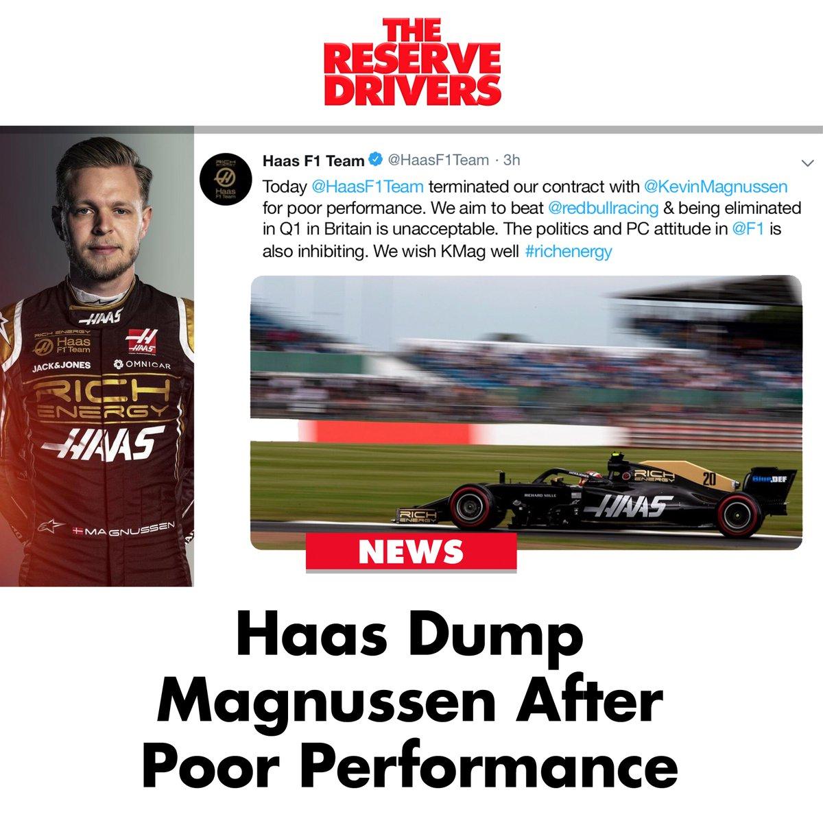 Kevin Magnussen dumped by @HaasF1Team after #Q1!  #BritishGP 🇬🇧 #F1 #BritishGP2019 #F1Qualifying