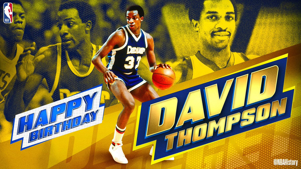 "Join us in wishing a Happy 65th birthday to 5x All-Star and @Hoophall inductee, ""Skywalker"" David Thompson!"