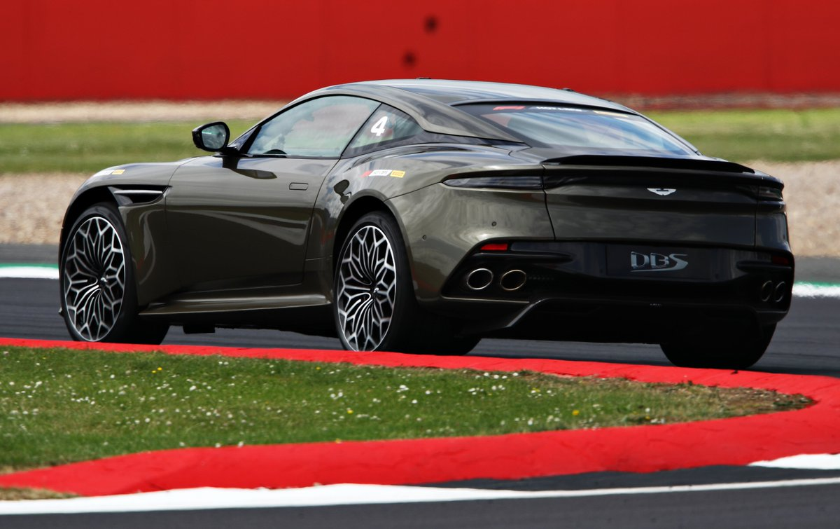 """""""I'm just taking the Aston Martin out for a quick spin"""" James Bond.  #F1PirelliHotLaps #BritishGP #F1007 #LICENCETOTHRILL"""