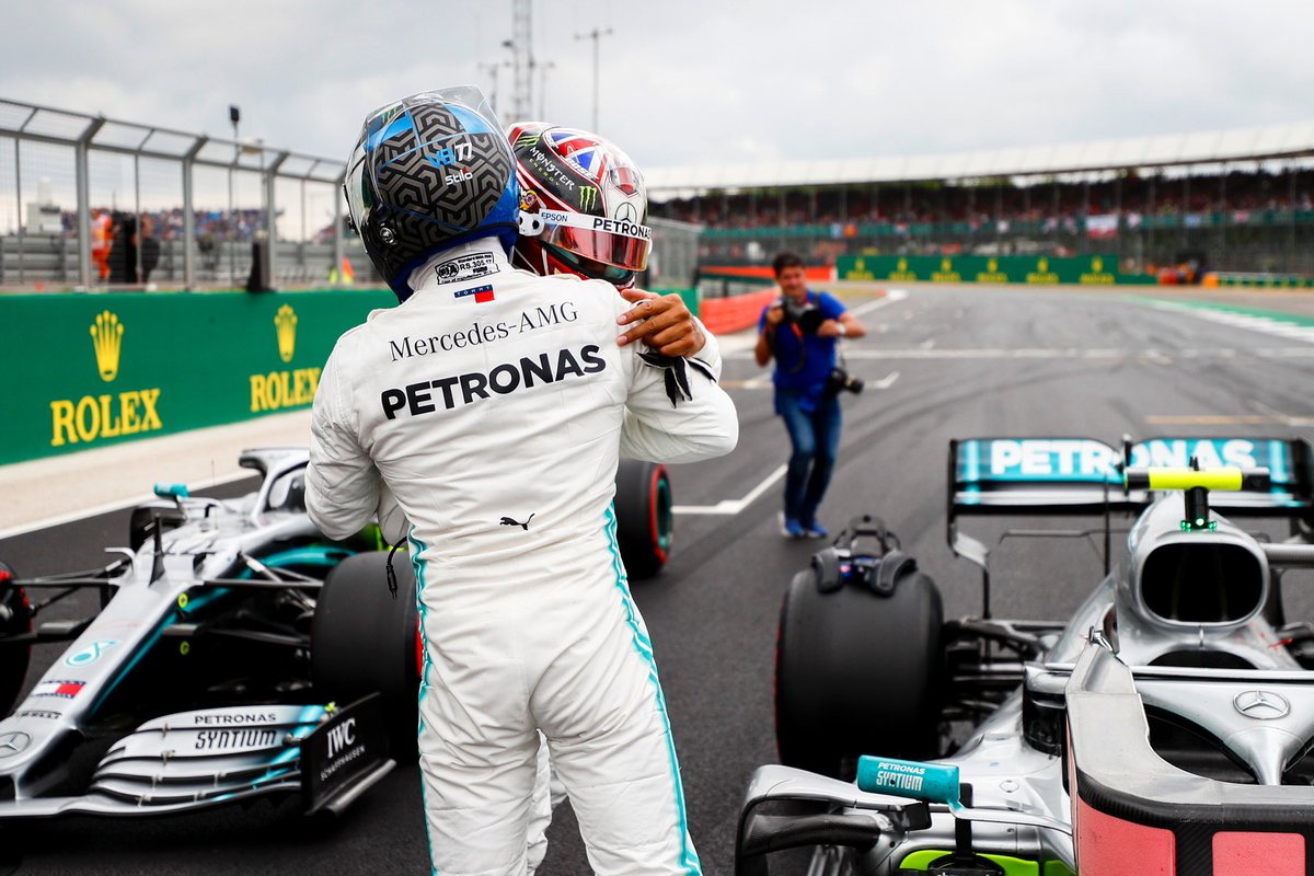 0.006... 👀 All that split VB and Lewis on Saturday! 💪 #BritishGP