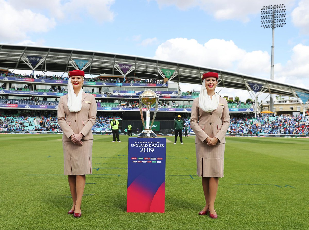 Good luck to England and New Zealand in the 2019 @ICC @cricketworldcup Final. Who will be the new world champions? Retweet for a chance to win an exclusive Emirates @Airbus A380 scale model in #CWC19 livery. 🇳🇿 🏴󠁧󠁢󠁥󠁮󠁧󠁿 #NZvENG #FlyEmiratesFlyBetter