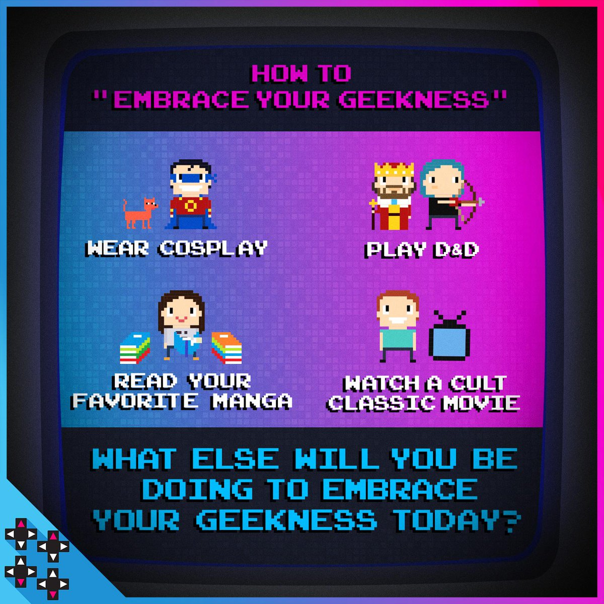 How do you #EmbraceYourGeeknes?! Tell us in the comments! 👇