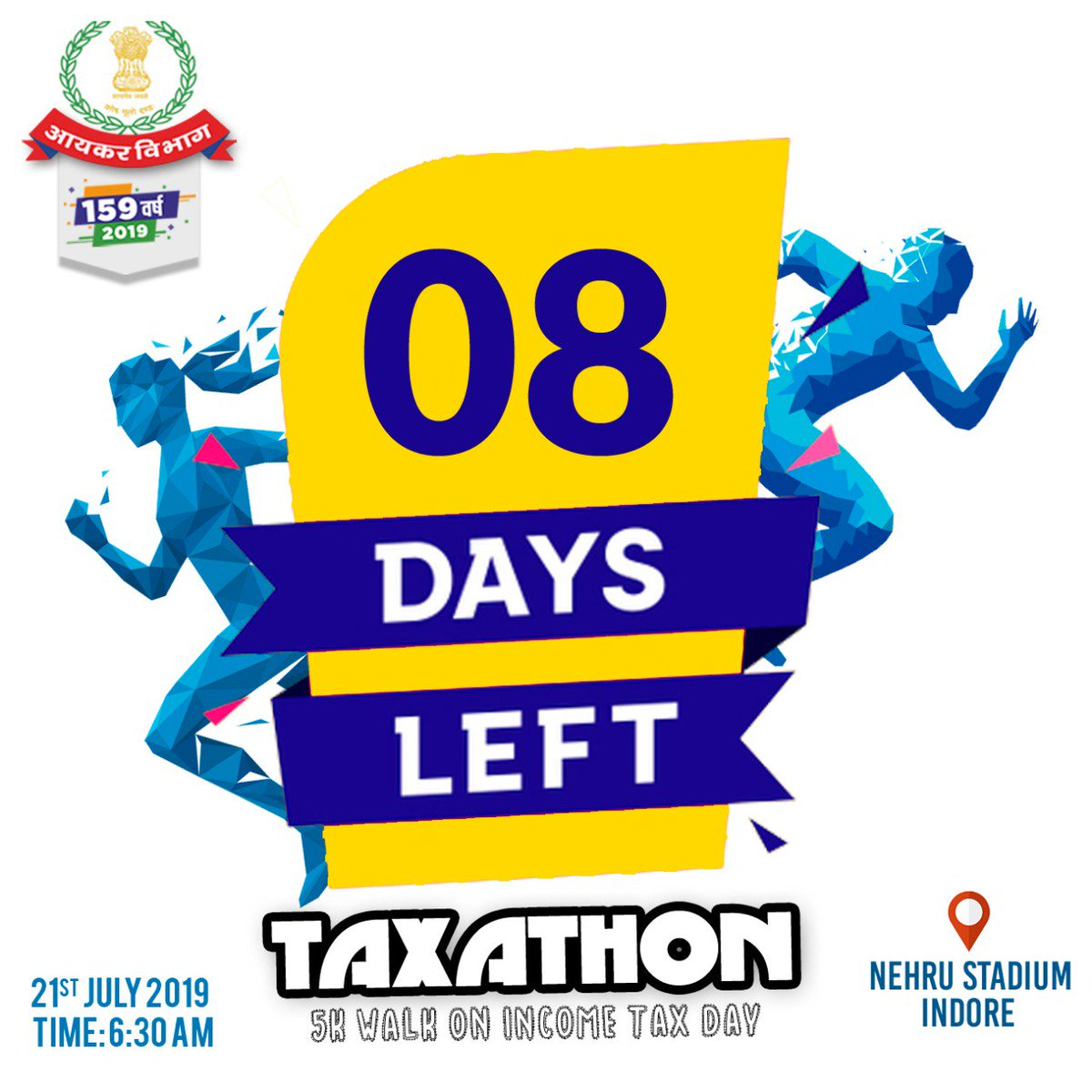 Just 8 days to go for #taxathon! The excitement is high. Let's walk together to commemorate the national tax day and foster health and wellness for the development of the nation. See you there! <br>http://pic.twitter.com/KtS7rI2Zi1