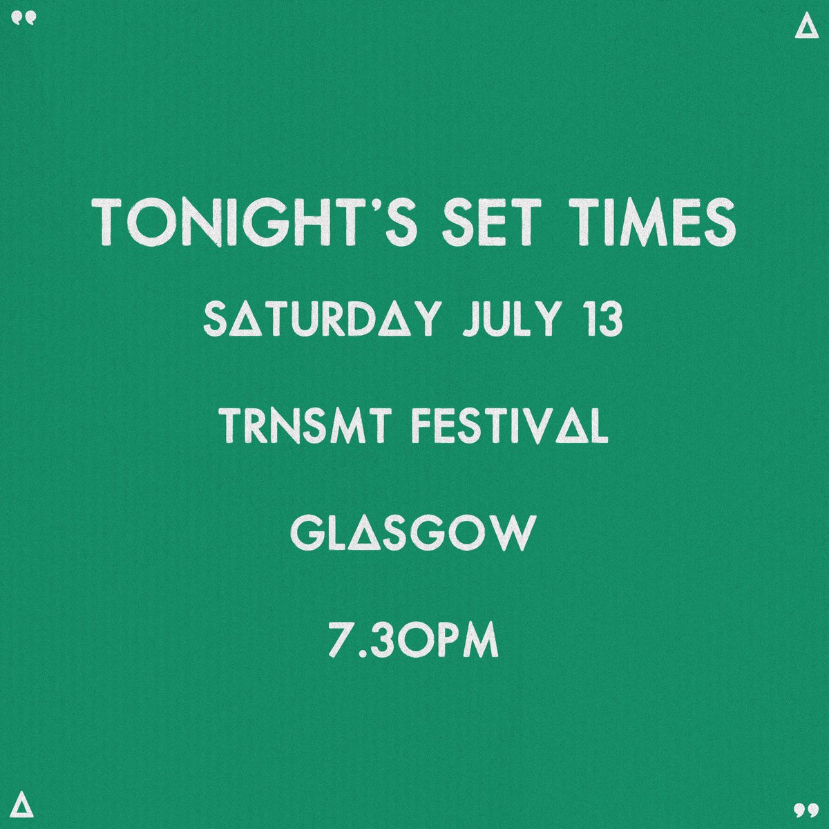 TONIGHT // @TRNSMTfest