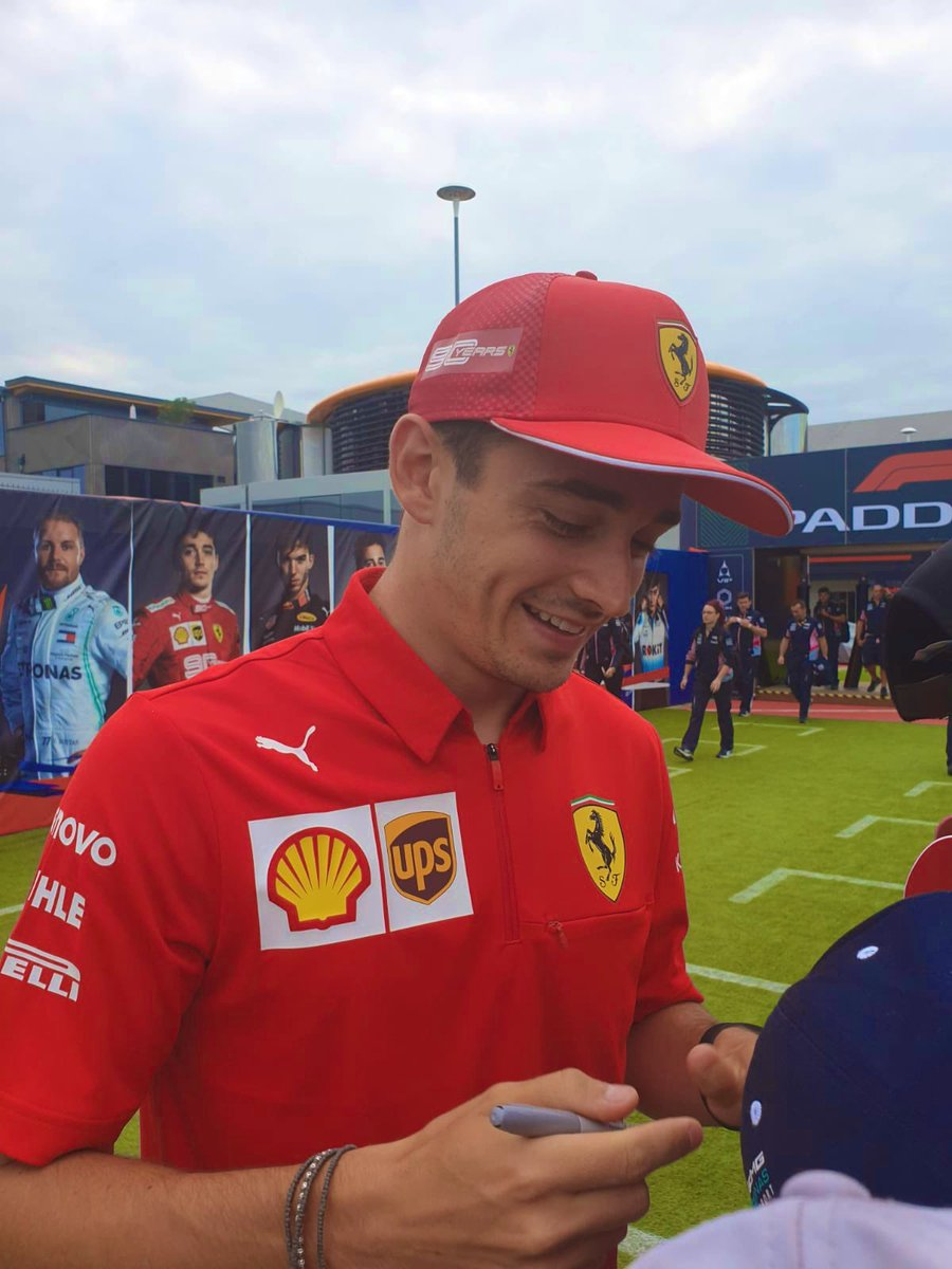 Smiley @Charles_Leclerc signing autographs for fans after qualifying today 🥰  #F1 #BritishGP 🇬🇧 #Charles16