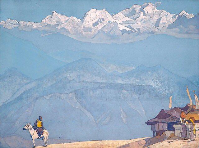 니콜라스 뢰리히라는 발트 독일인출신 러시아인 화가 그림.탐라에서 봤을 때는 티베트나 몽골을 많이 그리는 것 같았는데,