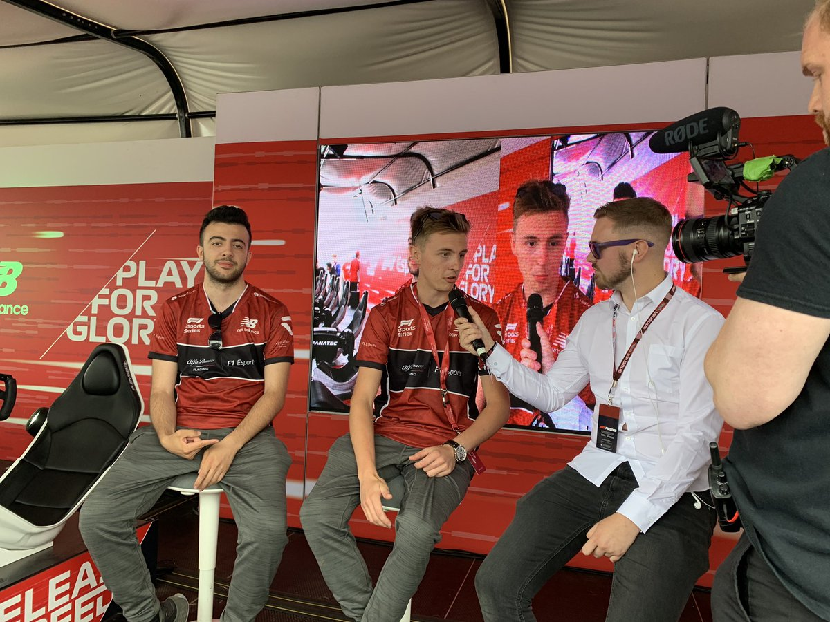 Big fun in the @f1 Fanzone with @SauberEsports 🙌🏻 Thanks @_aarava @FormulaDani @VeS_FlyingFinn @Veloce_Jaaames #BritishGP